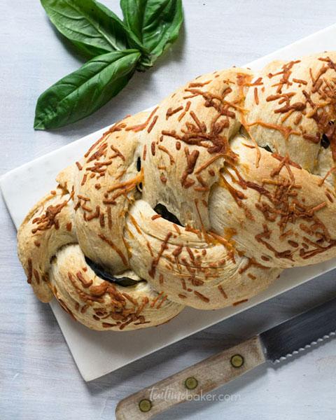 Braided Basil Parmesan Loaf